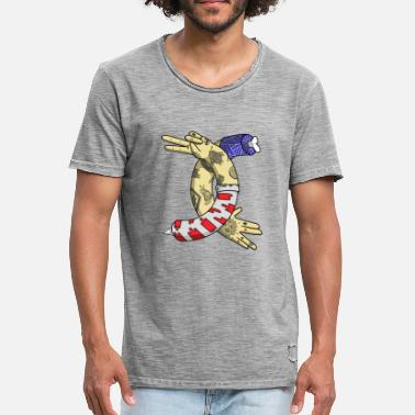 Tatoo tatoo illustration - Vintage-T-shirt herr