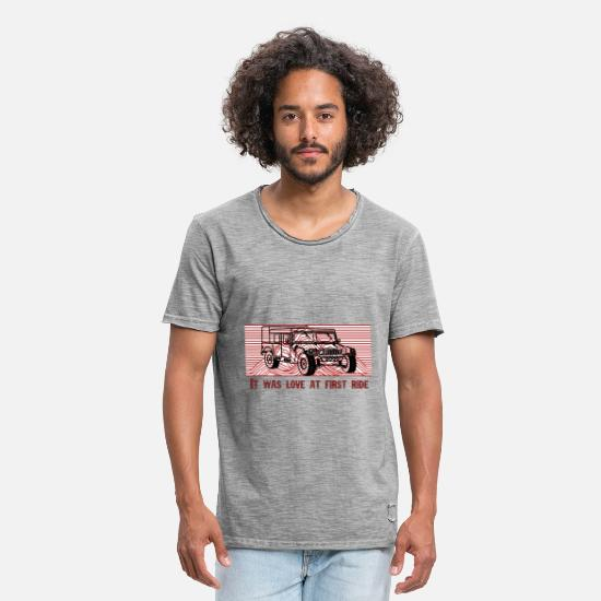 Offroad Vehicles T-Shirts - Off-road vehicle jeep off-road vehicles - Men's Vintage T-Shirt vintage gray