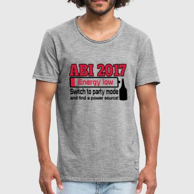 Abi 2017 Party - Männer Vintage T-Shirt