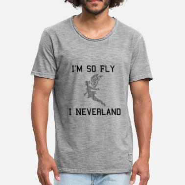 So Fly Rolig Rolig Cool Sayings Fairy - Vintage-T-shirt herr