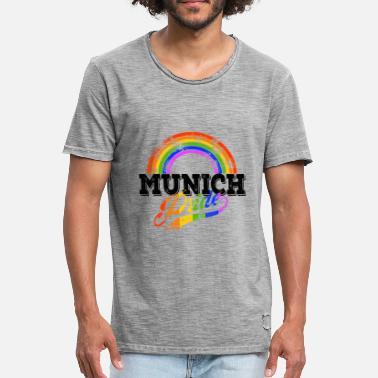 2ae9ca215d2a Gay Pride Munich Pride LGBT Gay Pride Rainbow - Men  39 s Vintage T. Men s  Vintage T-Shirt