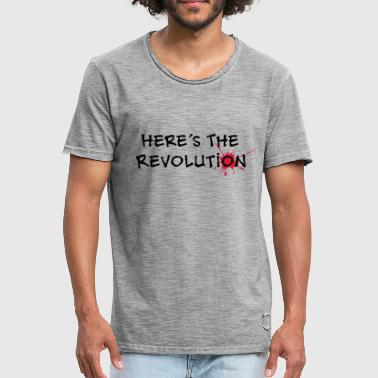 Here's the Revolution, Bloodstain, Politics - T-shirt vintage Homme