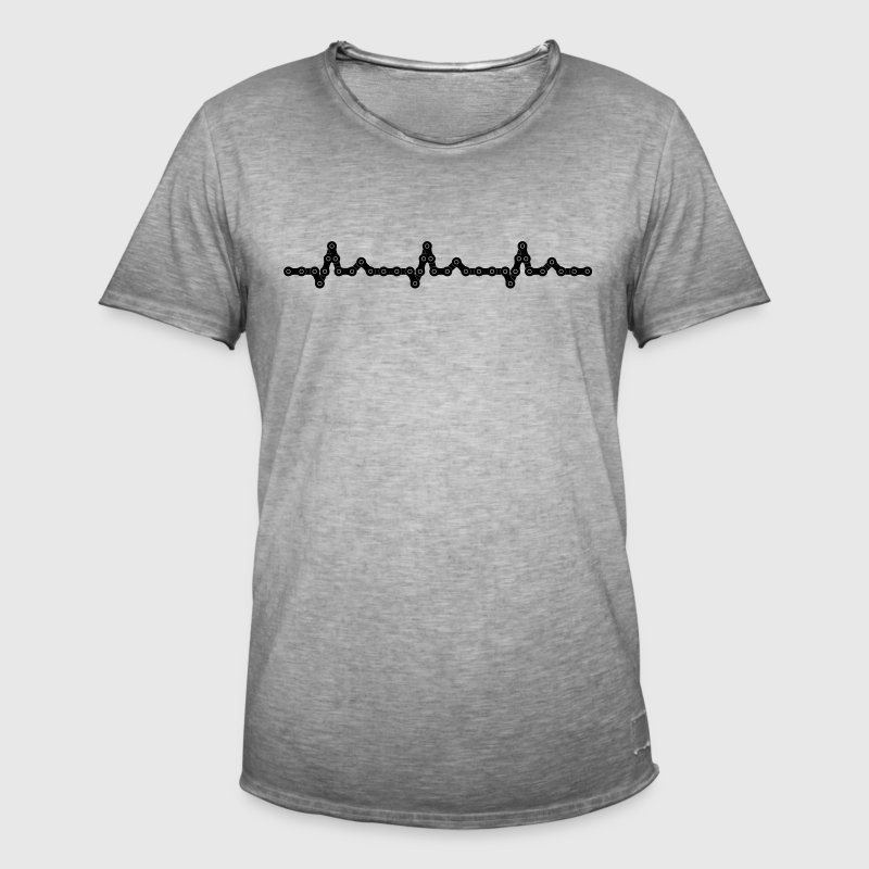 Bicycle Heartbeat Chain - Men's Vintage T-Shirt