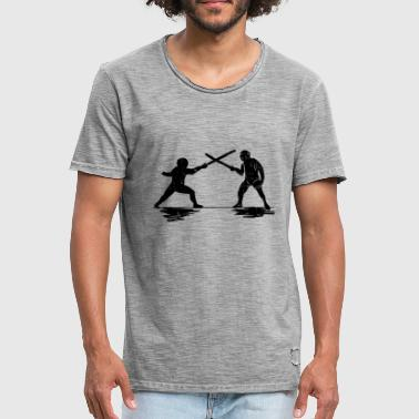 Sword Fight fencing sword sword duel arena sword fighting - Men's Vintage T-Shirt
