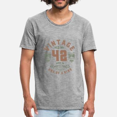 Age Old Old No. 42 Aged To Perfection - Men's Vintage T-Shirt
