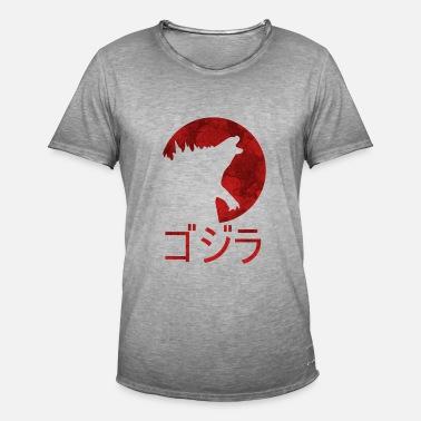 edeb6af10f94 Godzilla avec écriture japonaise Débardeur premium Homme