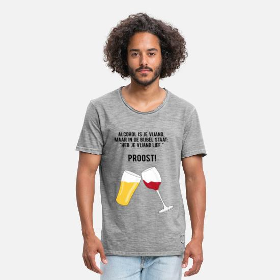 Cheers T-Shirts - Alcohol is your enemy - Men's Vintage T-Shirt vintage gray