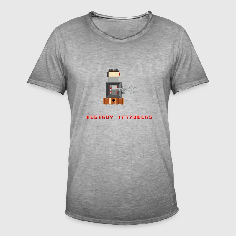 Pixel Boss Robot - Men's Vintage T-Shirt