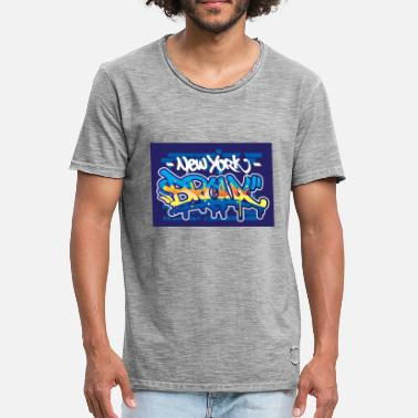 aa52f4fc63a Vector Graffiti Bronx graffiti text vector - Men  39 s Vintage T-Shirt