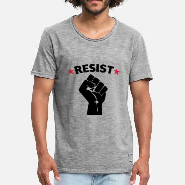 Protestant Resistance protest raised fist - Men's Vintage T-Shirt