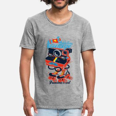 Années 90 Retro photo addiction  - T-shirt vintage Homme