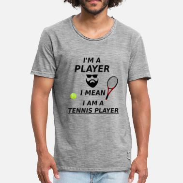 Tennis Game Tennis - Tennis player - Tennis game - Gift - Men's Vintage T-Shirt