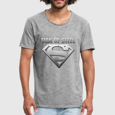 DC Comics Superman Logo Man Of Steel - Männer Vintage T-Shirt