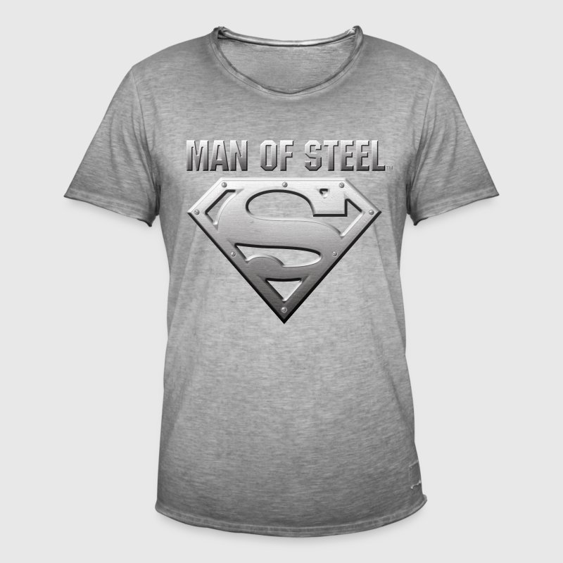 DC Comics Superman Logo Man Of Steel - T-shirt vintage Homme