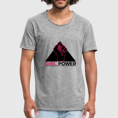 With Full Force Girl power fist force - Men's Vintage T-Shirt