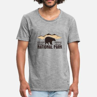 Tetons Parc national de Grand Teton - T-shirt vintage Homme
