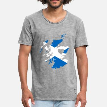 Scottish Love Scottish love with heart gift scotland - Men's Vintage T-Shirt