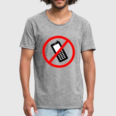 Prohibition Cellphone prohibited - Men's Vintage T-Shirt