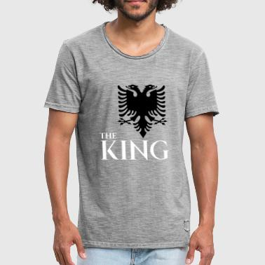 The king of albania shirt kosovo albanisch t-shirt - Männer Vintage T-Shirt