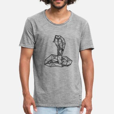 Snake Cobra snake geometric gift animal hipster - Men's Vintage T-Shirt