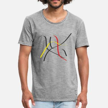 Line Art Art of Lines - Men's Vintage T-Shirt