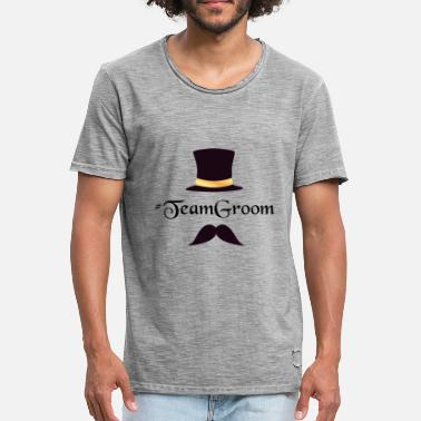Team Groom 2 - Vintage T-shirt mænd