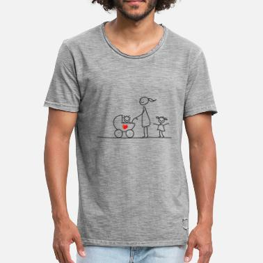 Stick Family Stick figure - family love - Men's Vintage T-Shirt