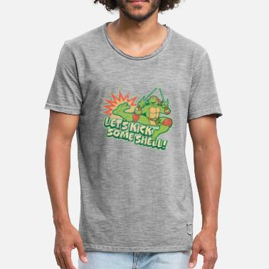 TMNT Turtles Raphael Let's Kick Some Shell - Camiseta vintage hombre