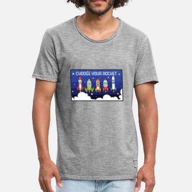 Coin Kies je Coin - Mannen Vintage T-shirt