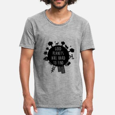 Planet Earth - Männer Vintage T-Shirt