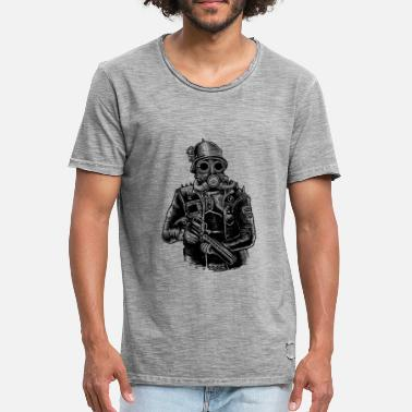 Soldier Steampunk Soldier - Men's Vintage T-Shirt