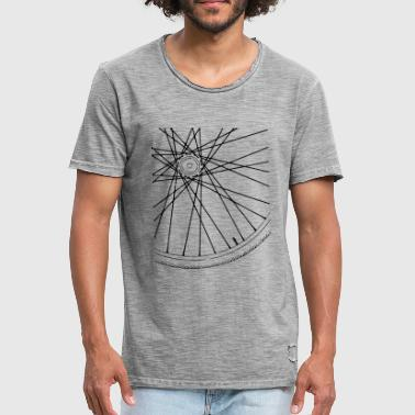 Bicycle Race Spokes Cycling Race w - Men's Vintage T-Shirt