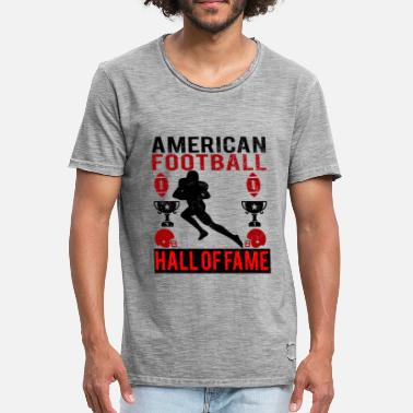 Hall Of Fame American Football Hall Of Fame Logo rot - Männer Vintage T-Shirt