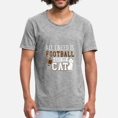 Footbal Footbal and My Cat Gift - Mannen Vintage T-shirt