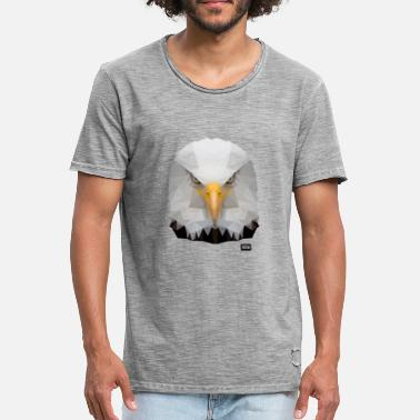 Ørnehode Eagle of Triangles - Vintage T-skjorte for menn