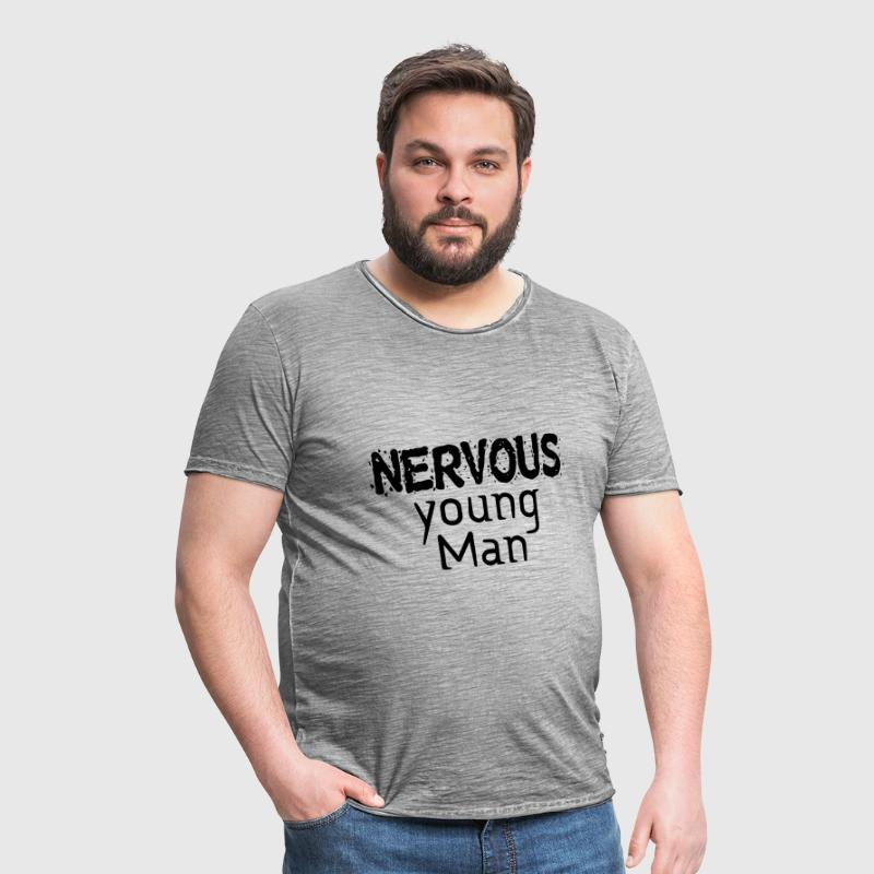 Nervous young Man - Männer Vintage T-Shirt