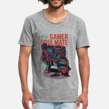 Gaming Gamer Soulmate - Men's Vintage T-Shirt