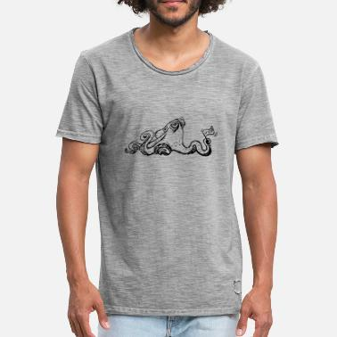 Pieuvre Illustration de pieuvre week-end - T-shirt vintage Homme