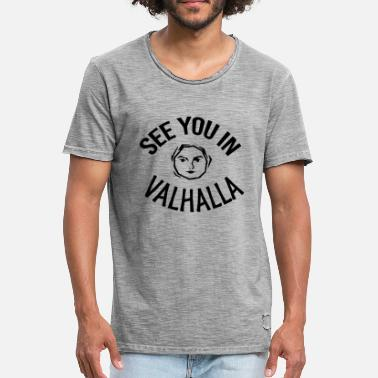See You In Valhalla See You in Valhalla face - Men's Vintage T-Shirt