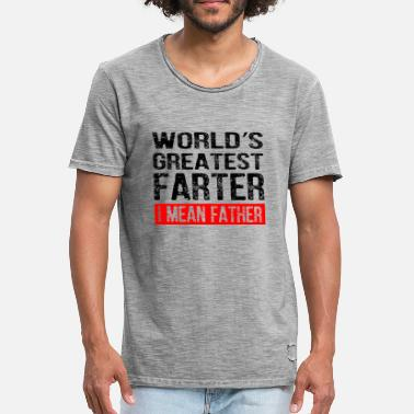 Superpapa World's Greatest Farter I Mean Father - Männer Vintage T-Shirt