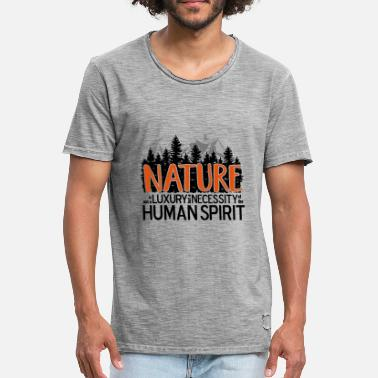 Nature Lover Nature is not a luxury ... for nature lovers! - Men's Vintage T-Shirt