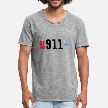 9-11 9/11 - AIRPLANE - WTC - Men's Vintage T-Shirt