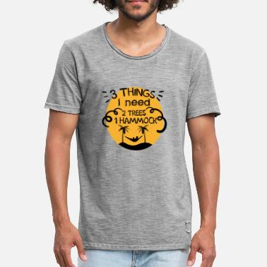 Thing 1 And Thing 2 3 Things I need 2 Trees 1 Hammock - Men's Vintage T-Shirt