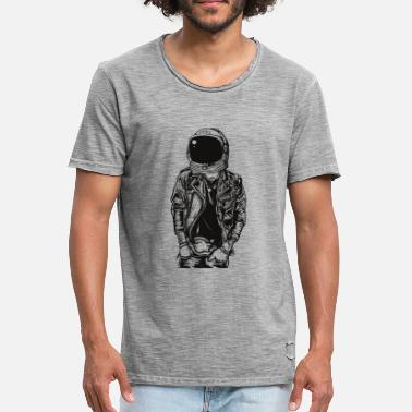 Sters ASTRONAUT PUNK STER - Herre vintage T-shirt