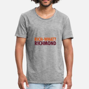 Richmond Rich- cosa? Richmond - Design Statement - Maglietta vintage da uomo