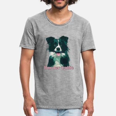 Border Collie border collie - T-shirt vintage Homme