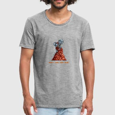 Pixelart Graveyard Boss Enemy - Men's Vintage T-Shirt