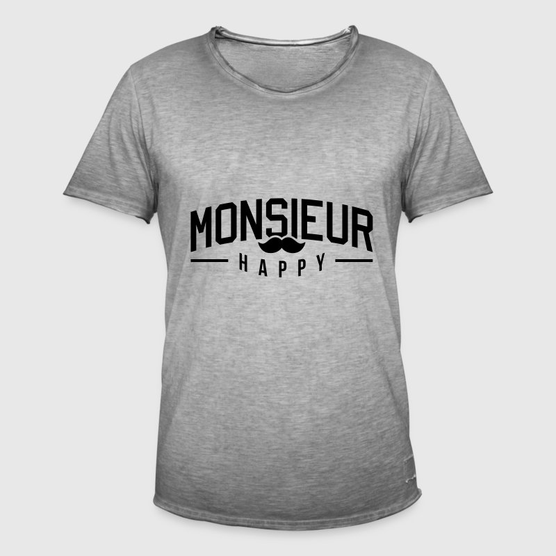 Monsieur-Happy - T-shirt vintage Homme