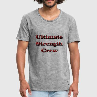 Ultimate Strength Crew - Mannen Vintage T-shirt