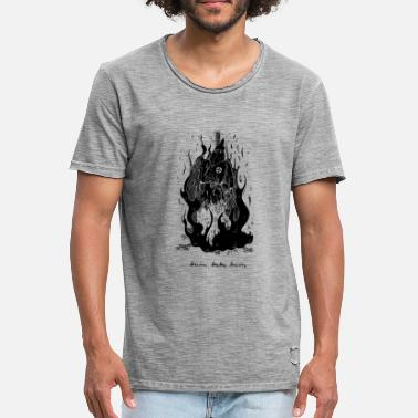 Burning Burn Baby Burn - Burning Klansman - Men's Vintage T-Shirt